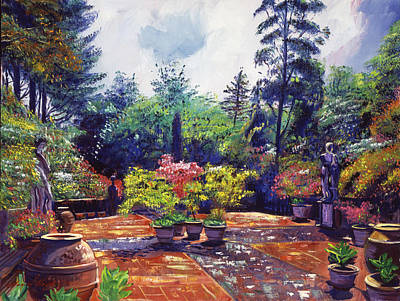 Italian Landscapes Painting - Roma Garden by David Lloyd Glover