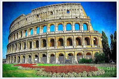 Roman Coliseum Cityscape Print by Stefano Senise