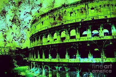 Epic Digital Art - Roman Colosseum by Marina McLain