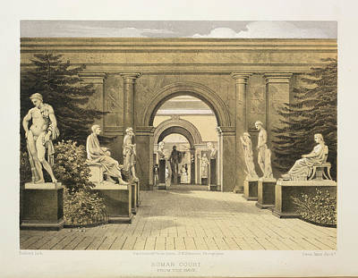 Roman Court Print by British Library