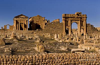 Roman Ruins Of Sufetula In Town Print by Bill Bachmann