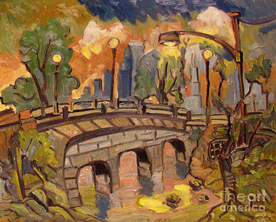 Roman Stone Bridge Minnesota Original by Charlie Spear