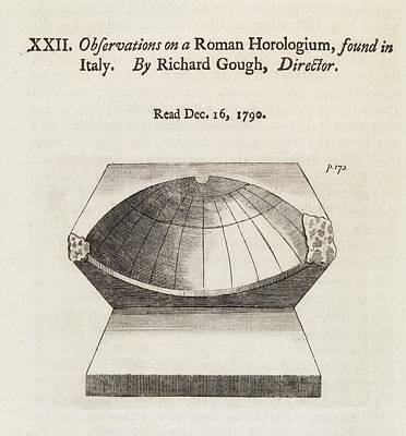 Roman Sundial Print by Middle Temple Library