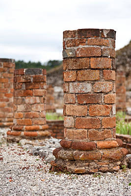 Mosaico Photograph - Roman Villa Columns by Jose Elias - Sofia Pereira