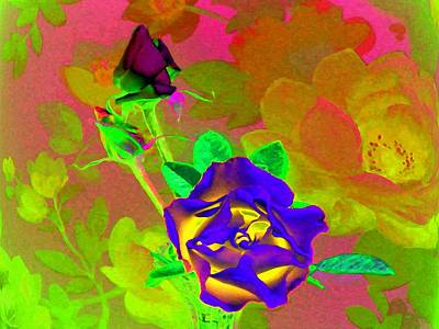 Abstract Hearts Digital Art - Romancing The Rose by Will Borden