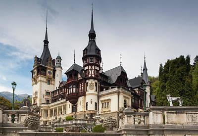 Pele Photograph - Romania, Transylvania, Sinaia, Peles by Walter Bibikow