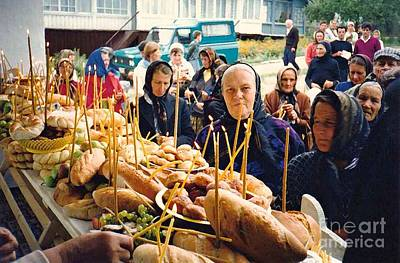Romanians Celebrating Transfiguration Print by Sarah Loft