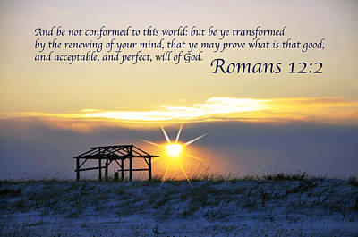 Romans Chapter 12 Verse2 Print by Arlene Rhoda Nanouk