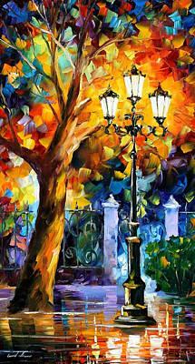 Romantic Aura - Palette Knife Oil Painting On Canvas By Leonid Afremov Original by Leonid Afremov