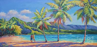Romantic Hanalei Bay Print by John Clark