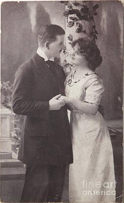 1916 Digital Art - Romantic Love In 1916 by Patricia Hofmeester
