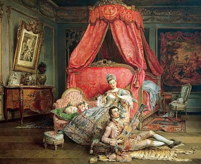 Serenade Painting - Romantic Scene by Ignacio De Leon y Escosura