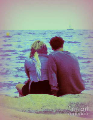 Romantic Seaside Moment Print by Lainie Wrightson