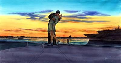 Expensive Painting - Romantic Sunset by John YATO