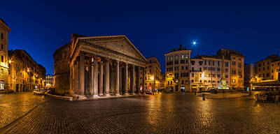 Rome - Pantheon Panorama Print by Jean Claude Castor