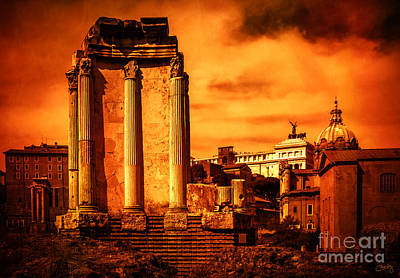 Rome Burning Print by Prints of Italy