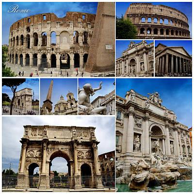 Rome Collage Print by Mirko Dabic