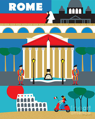 Rome Print by Karen Young