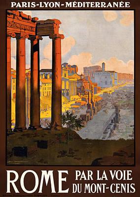 Tourism Digital Art - Rome Par La Voie Du Mont-cenis by Georgia Fowler