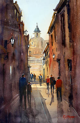 Streetscape Painting - Rome by Ryan Radke