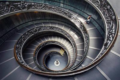 Indoor Photograph - Rome Vatican Museum by Nina Papiorek
