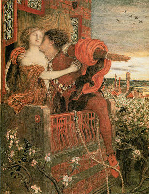 Romeo And Juliet Print by Ford Madox Brown