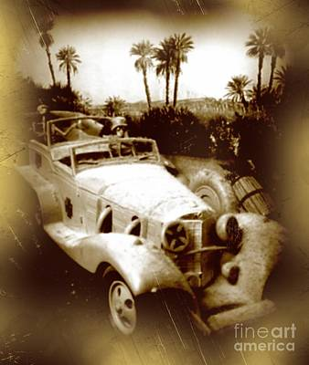 Historic Vehicle Mixed Media - Rommel Desert Rat by John Malone