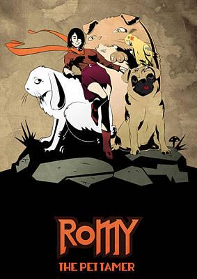Hellboy Digital Art - Romy The Pet Tamer by Zeymar Olszewski