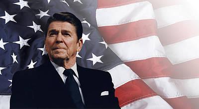 Ronald Reagan - American Print by Daniel Hagerman