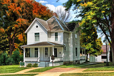 Queen Anne Painting - Ronald Reagan Boyhood Home by Christopher Arndt