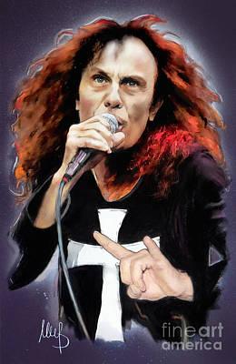 Ronnie James Dio Print by Melanie D