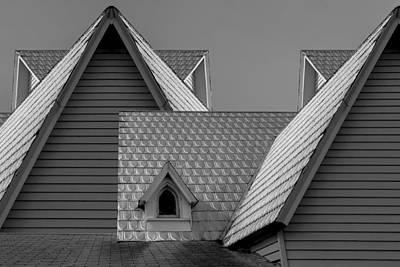Roof Lines Print by Debra and Dave Vanderlaan