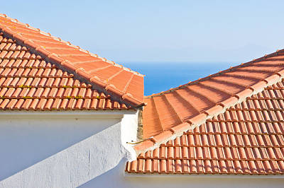 Rooftop Photograph - Roof Tiles by Tom Gowanlock