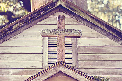 South Louisiana Photograph - Roof Top Cross by Scott Pellegrin