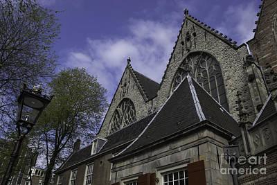 Rooflines Oude Kerk Amsterdam Print by Teresa Mucha