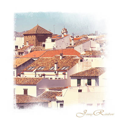 Red Roof Photograph - Roofs Of Ronda. Mini-ideas For Interior Design by Jenny Rainbow