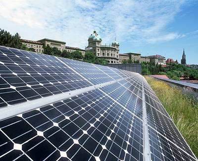 Rooftop Photograph - Rooftop Solar Cells by Martin Bond