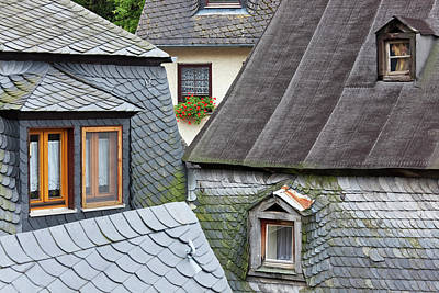 Adam Photograph - Rooftops, Beilstein, Mosel, Germany by Peter Adams