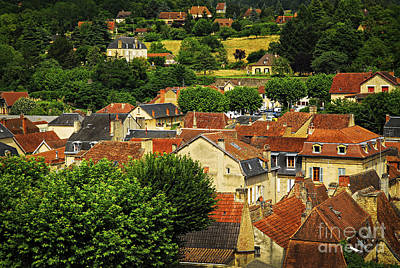Sight Photograph - Rooftops In Sarlat by Elena Elisseeva