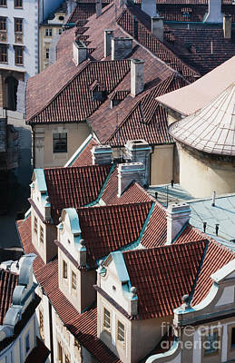 Rooftops Of Prague In Czechia Europe Print by Stephan Pietzko