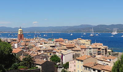 rooftops of St-Tropez Print by Solange Rhode