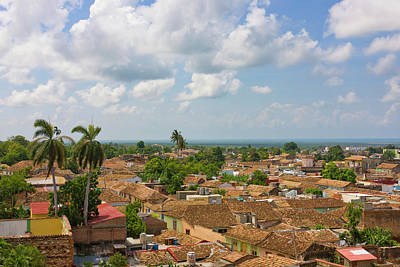 Rooftops, Trinidad, Unesco World Print by Keren Su