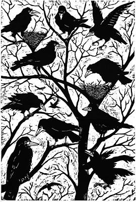 Crow Photograph - Rooks by Nat Morley