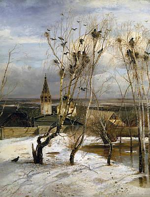 Alexei Painting - Rooks Have Returned by Alexei Savrasov