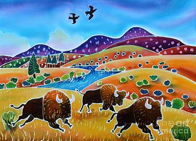Wyoming Painting - Room To Roam by Harriet Peck Taylor
