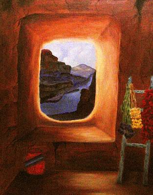 Ristra Painting - Room With A View by Janis  Tafoya