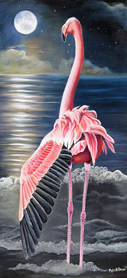 Greater Flamingo Painting - Room With A View by Phyllis Beiser