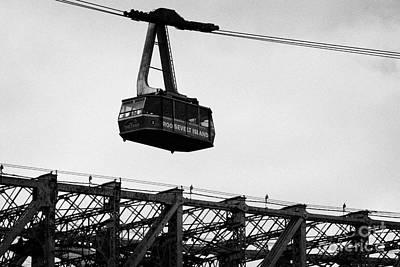 Roosevelt Island Aerial Tram Cable Car And Queensboro Bridge New York City Nyc Print by Joe Fox