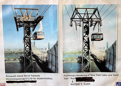 Aerial Tramway Photograph - Roosevelt Island Tramway by Andrew Fare