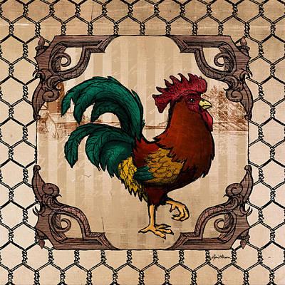 Rooster Digital Art - Rooster I by April Moen